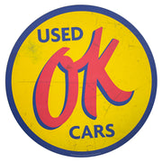 "Chevrolet OK Used Cars Oversized Metal Sign (40"")"