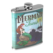Mermaid Tears Stainless Steel 8 oz Liquor Flask