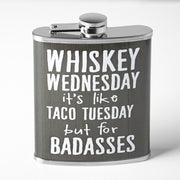 Whiskey Wednesday Stainless Steel 8 oz Liquor Flask