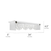 Carved Floral Medallion Wall Shelf - White