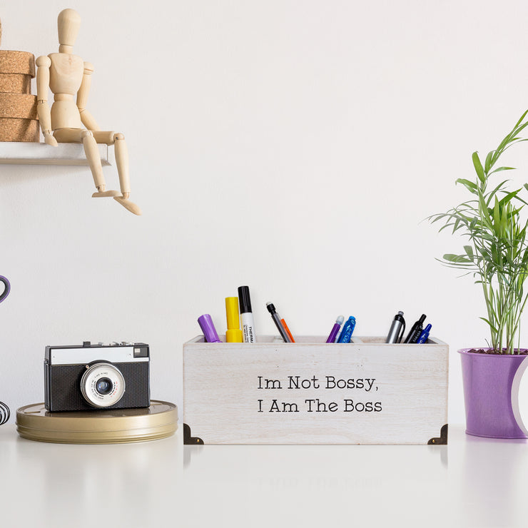Wood Desk Organizer - I'm Not Bossy, I Am the Boss
