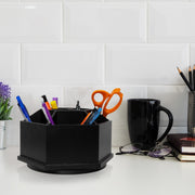 Swiveling Stationery Organizer – Black