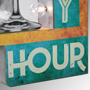 "Happy Hour Vintage LED Marquee Sign (25"" x 13"")"
