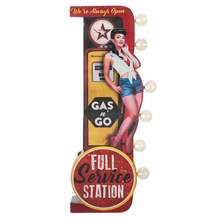 "Texaco Gas n' Go Vintage LED Marquee Sign (30"" x 15"")"
