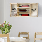 "Wall Mounted Wooden Wine Rack & Cork Holder (16"" x 34.5"")"