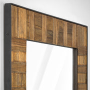 Rustic Wood and Metal Wall Mirror (35 x 26)