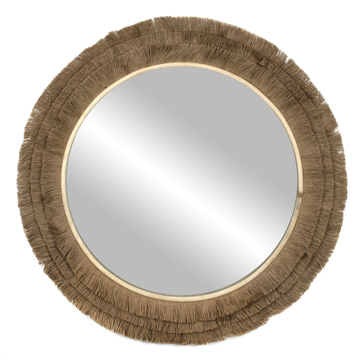 "Jute Rope Accent Wall Mirror – 25"" Brown"