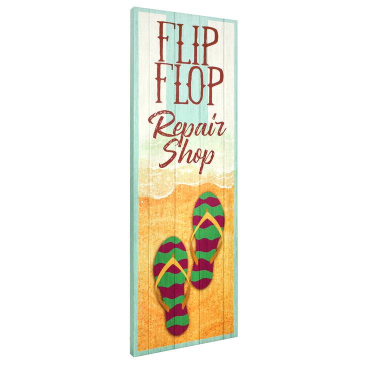 Flip Flop Repair Shop Outdoor Canvas Art Print