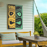 Tiki Mask Outdoor Canvas Art Print - 24x36