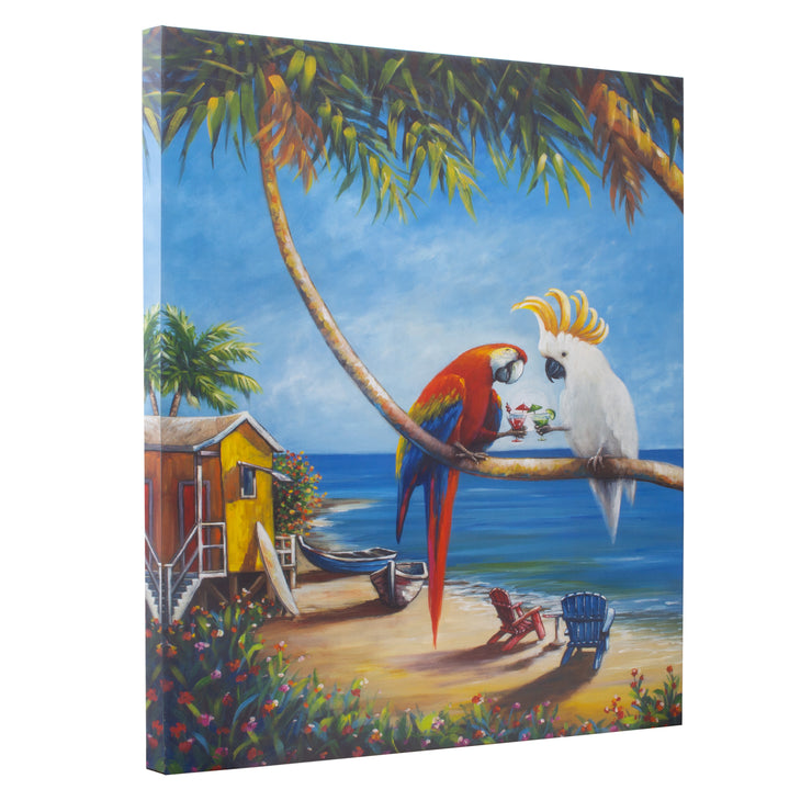 Birds In Paradise Outdoor Canvas Art Print - 30x40