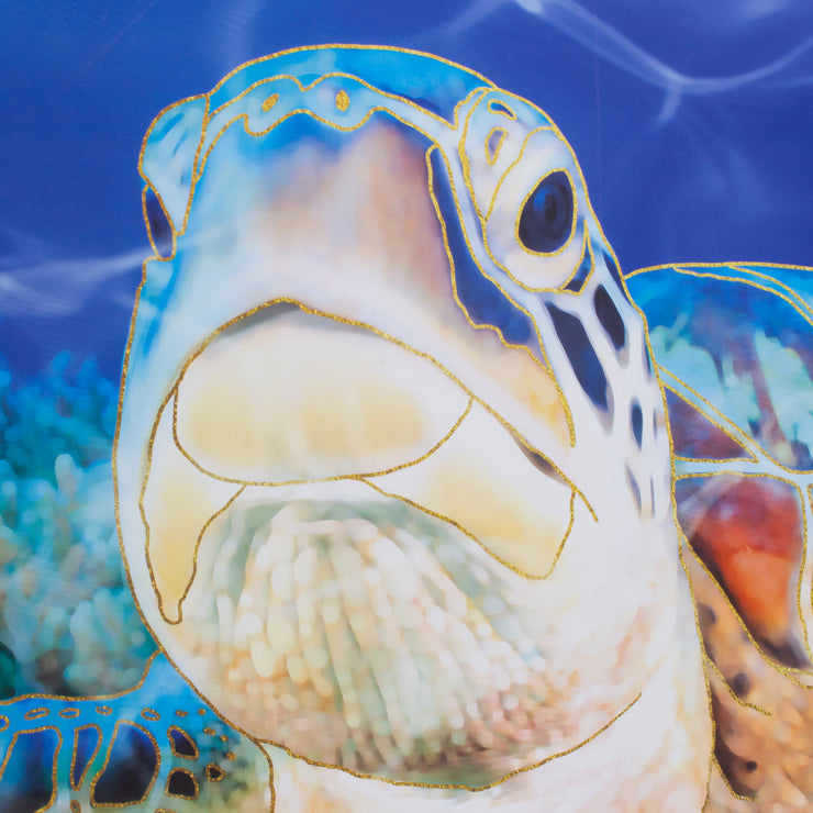 Sea Turtle Outdoor Canvas Art Print - 35x35