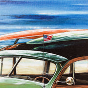 Seaside Cruising Outdoor Canvas Art Print
