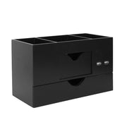 3 Tier Desk Organizer with USB Port - Black