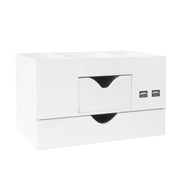 3 Tier Desk Organizer with USB Port - White