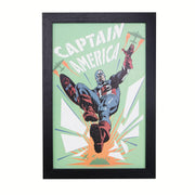 Licensed Marvel Comics Captain America Retro Framed Wall Art - 13x19