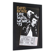 Licensed David Bowie Concert Poster Framed Wall Art - 13x19