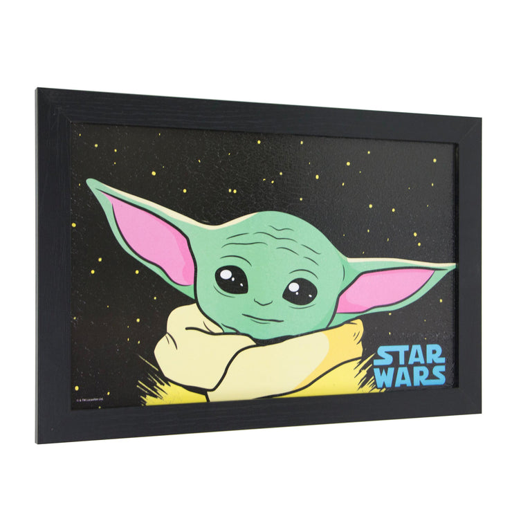 Licensed Star Wars The Mandalorian Grogu Framed Wall Art - 13x19