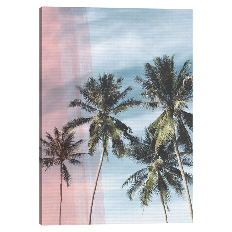 Tropical Palm Trees Outdoor Canvas Art Decor Print - 28x40