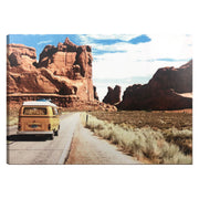 Vintage Road Trip Photo Outdoor Canvas Art Print - 28x40