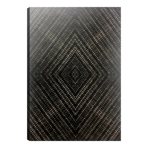 Batik Geometric Pattern Outdoor Canvas Art Print - 28x40