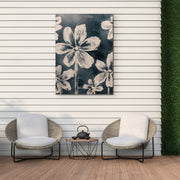 Abstract Floral Outdoor Canvas Art Decor Print - 28x40