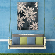 Rustic Floral Outdoor Canvas Art Decor Print - 28x40