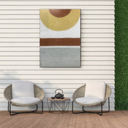 Abstract Geometric Outdoor Canvas Art Decor Print - 28x40