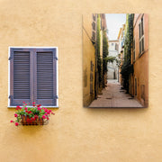 Town Street View Outdoor Canvas Art Decor Print - 28x40