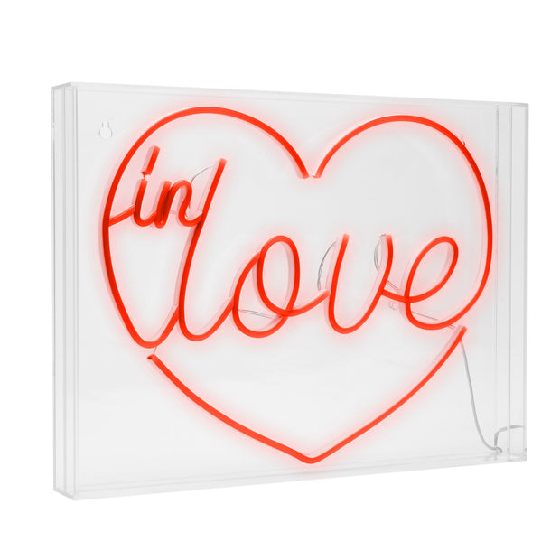 In Love Heart Neon Acrylic Box LED Sign