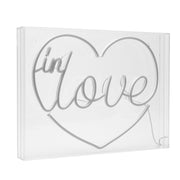 Neon LED Light Acrylic Box Sign - In Love Heart