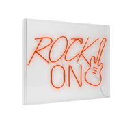 Neon LED Lights, Acrylic Box Sign - Rock On Guitar
