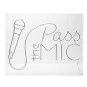 Pass the Mic Neon Acrylic Box LED Sign