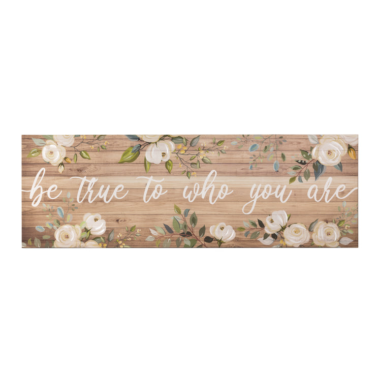 """Be True"" Kitchen Decor Canvas Art Print"
