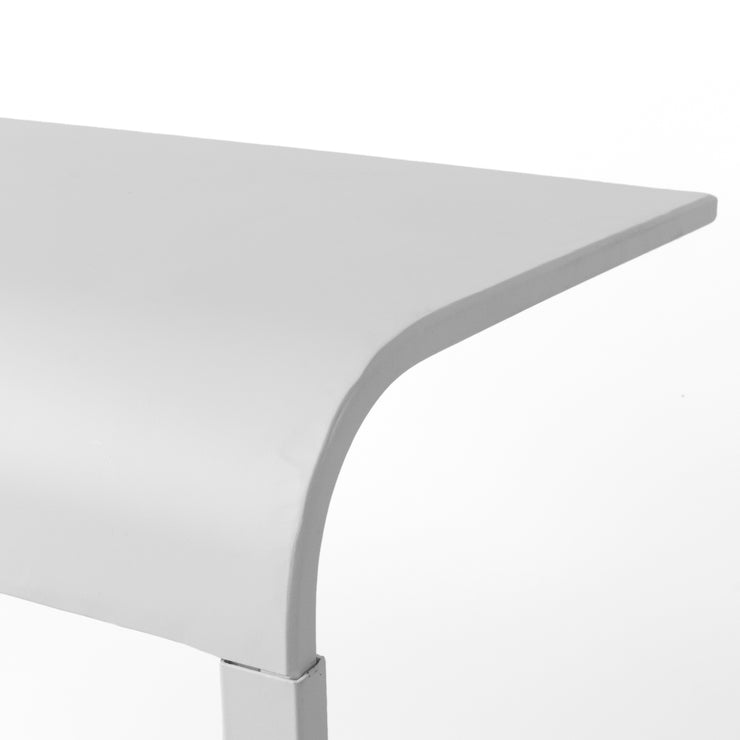 White Portable, & Compact C-Shaped Desk
