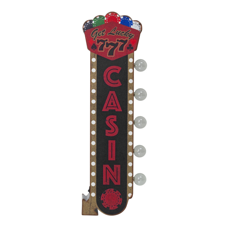 Get Lucky Casino Vintage LED Marquee Off the Wall Sign