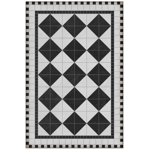 2' x 3' Decorative Vinyl Floor Mat Diamond Tile Pattern - Rockfeller