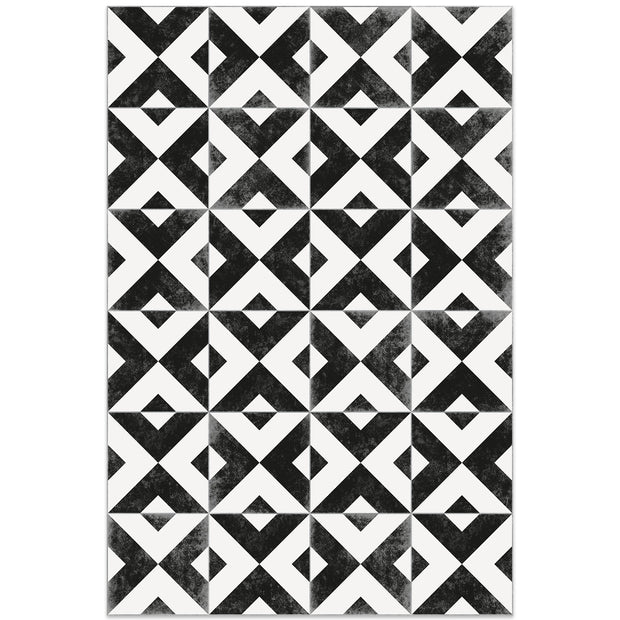 2' x 3' Decorative Vinyl Floor Mat Mosaic Tile - Rockfeller