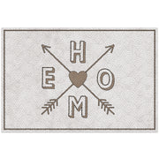 "2' x 3' Decorative Vinyl Floor Mat ""Home"" Mosaic"