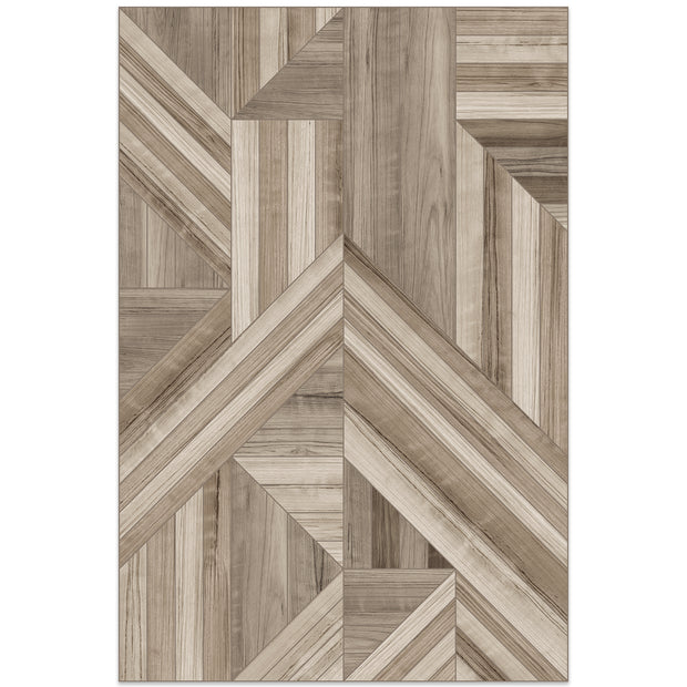2' x 3' Decorative Vinyl Floor Mat Wood Pattern - Marquetry