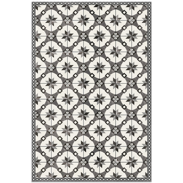 2' x 3' Decorative Indoor Vinyl Floor Mat Mosaic Tile Pattern - Ceramic