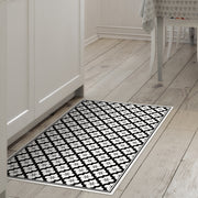 Ceramic Mosaic Tile Indoor Decorative Vinyl Floor Mat - 2' x 3'