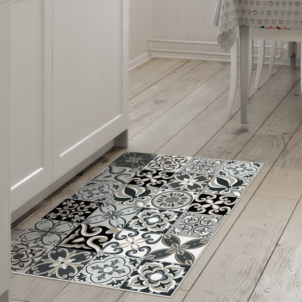 2' x 3' Decorative Vinyl Floor Mat Tile Pattern - Ceramic