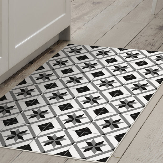 2' x 3' Decorative Vinyl Floor Mat Mosaic Tile - Ceramic