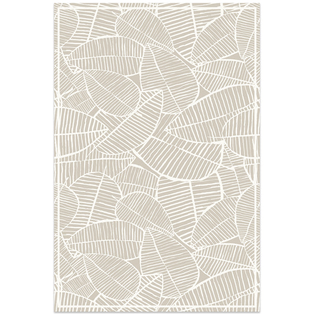 2' x 3' Decorative Vinyl Floor Mat Tropical Leaf - Classic Neutral
