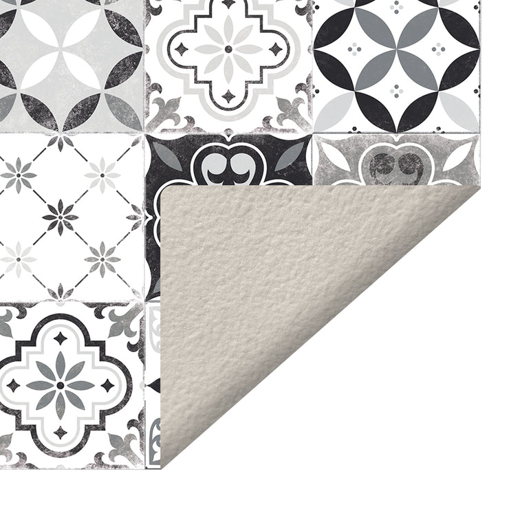 Classic Neutral Tile Pattern Indoor Vinyl Floor Mat - 2' x 3'