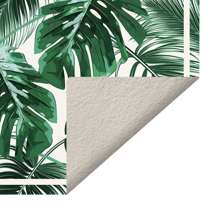Exotic Tropical Monstera Leaf Vinyl Floor Mat - 2' x 3'