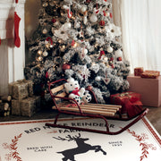 Reindeer Farm Indoor Vinyl Floor Mat – 2' x 3'