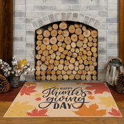 Thanksgiving Day Foliage Vinyl Floor Mat – 2' x 3'