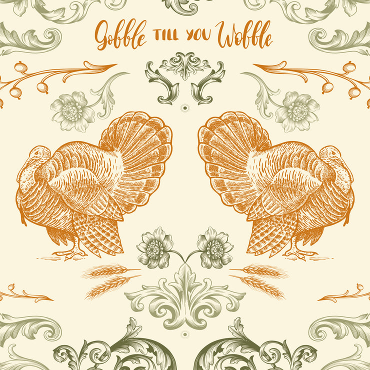 Gobble Till You Wobble Vinyl Floor Mat – 2' x 3'