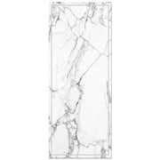 Decorative Vinyl Floor Mat White Marble - 2' x 5'